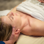women head massage at awakenings spa